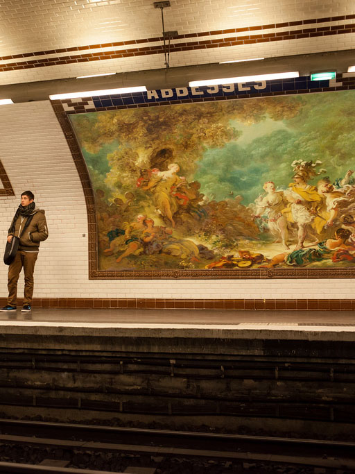 Etienne Lavie's billboard project - Parisian art on the loose