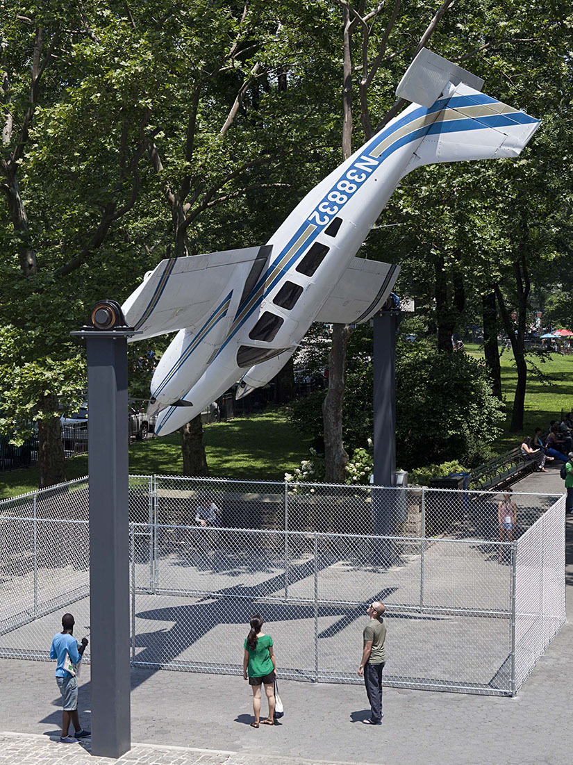 Rotating air plane in Central Park, NYC