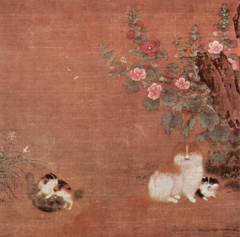 Cats in the Garden, by Mao Yi, 12th century