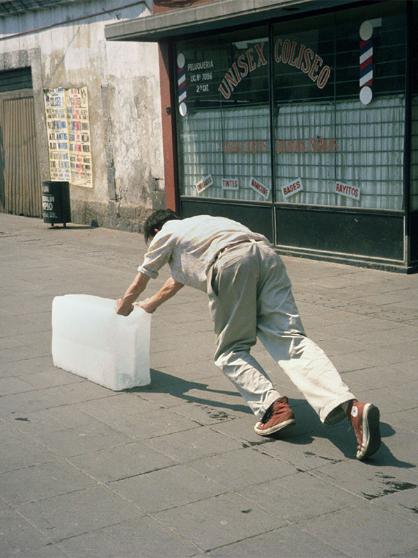 Why did Francis Alÿs push a block of ice for 9 hours?