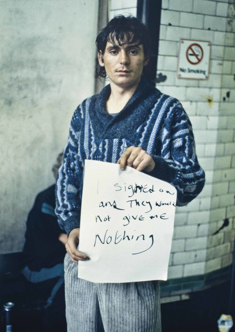 Gillian Wearing - I signed on and they would not give me nothing from Signs that say what you want them to say and not Signs that say what someone else wants you to say, 1992-1993