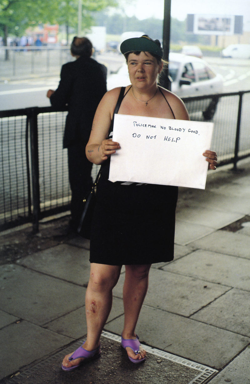 Gillian Wearing - Policeman no bloody good. DO NOT HELP from Signs that say what you want them to say and not Signs that say what someone else wants you to say, 1992-1993