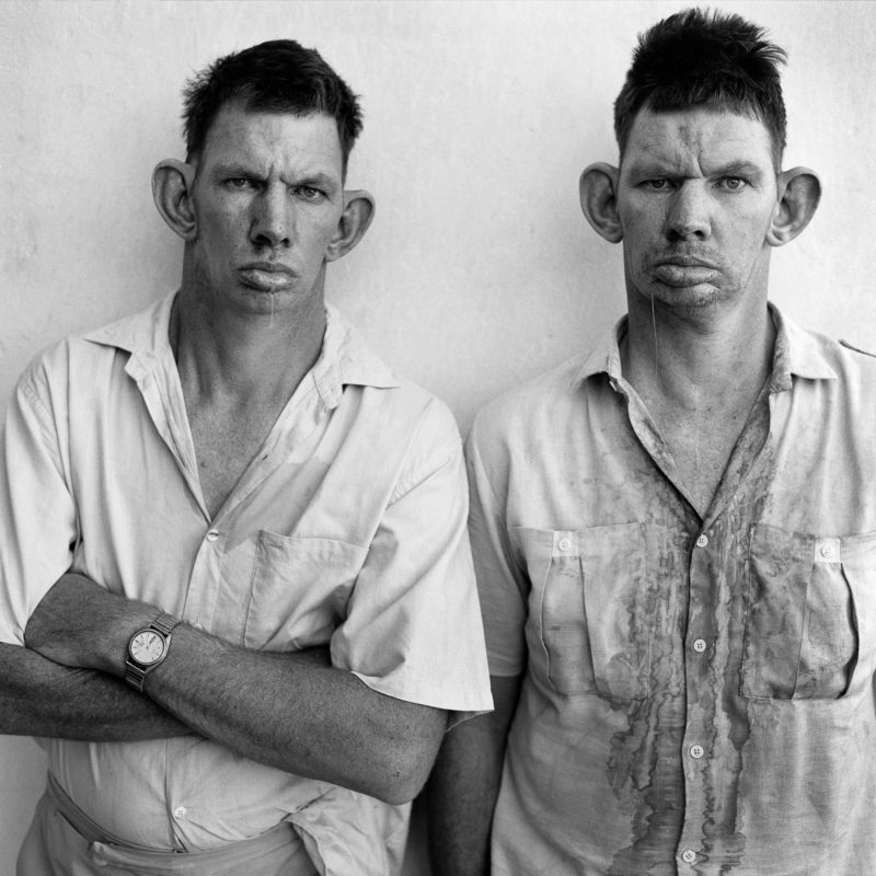 Roger Ballen - Dresie and Casie, Twins, Western Transvaal 1993, printed 2001