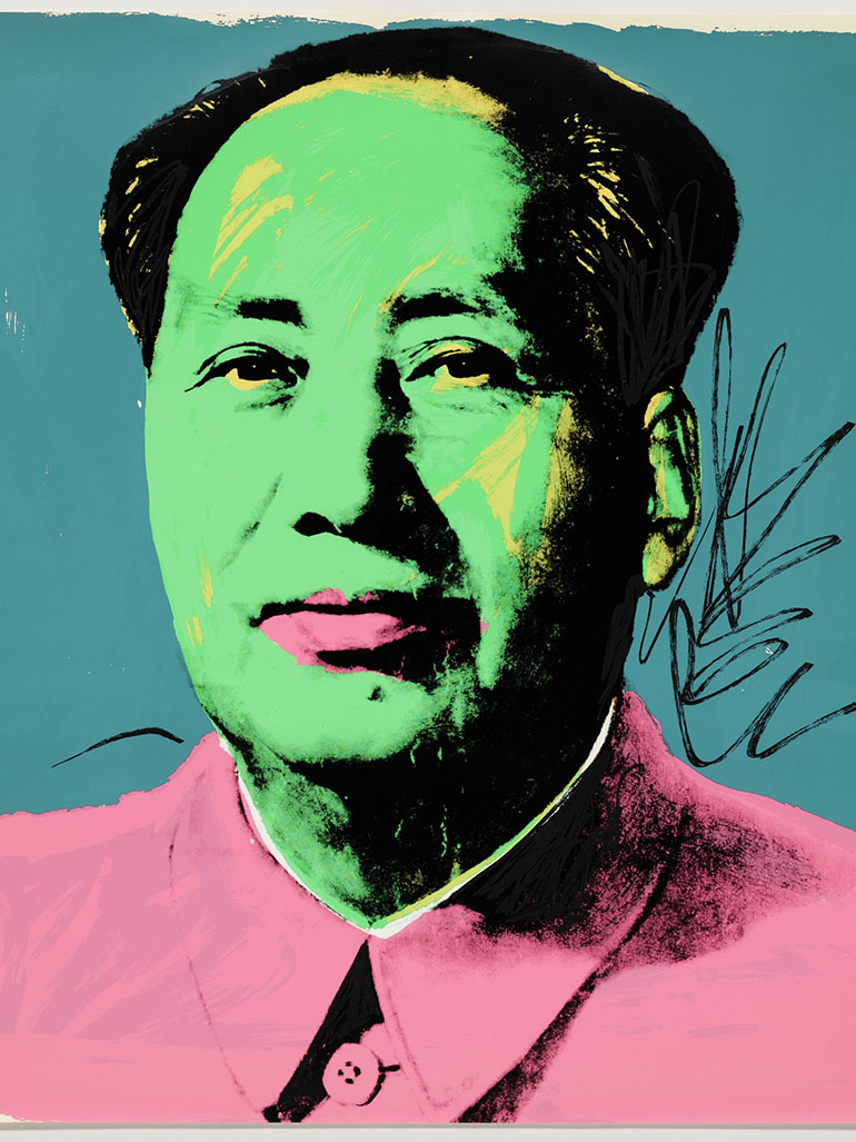 What is the story behind Andy Warhol's Mao portraits?