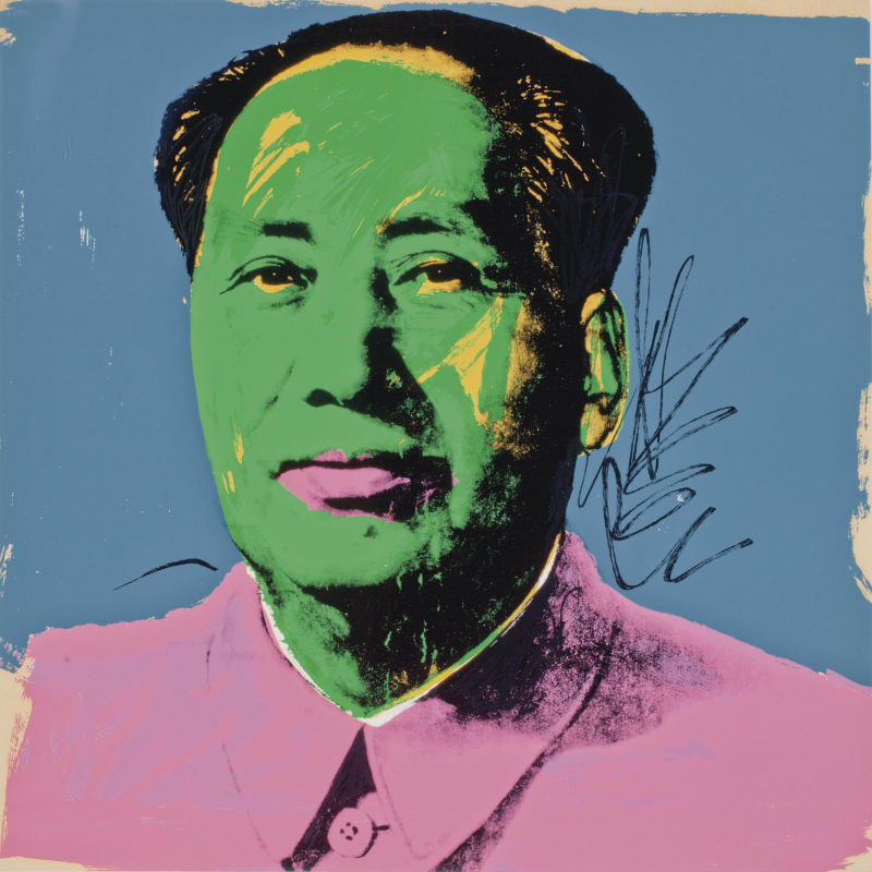 Andy Warhol - Mao- one plate (F. & S. II.93), 1972, screenprint in colors,, 91,4 x 91,1 cm, edition 50