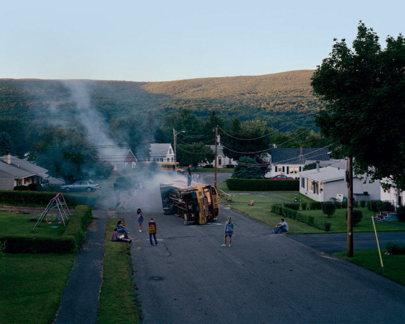 Gregory Crewdson - Untitled (Overturned Bus) from Twilight, 2001