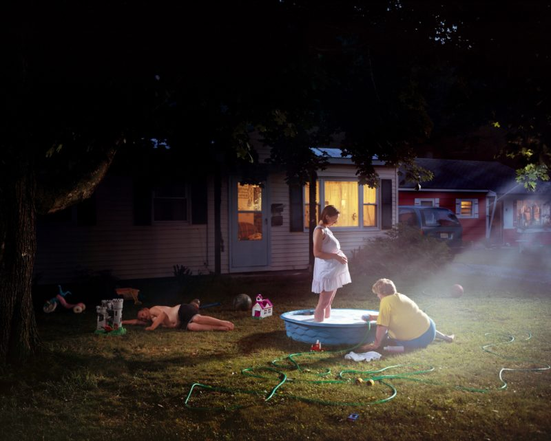 Gregory Crewdson - Untitled (Pregnant Woman in Pool) from Twilight, 1999