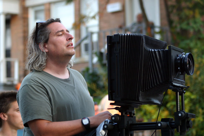 Gregory Crewdson with his 8x10 camera
