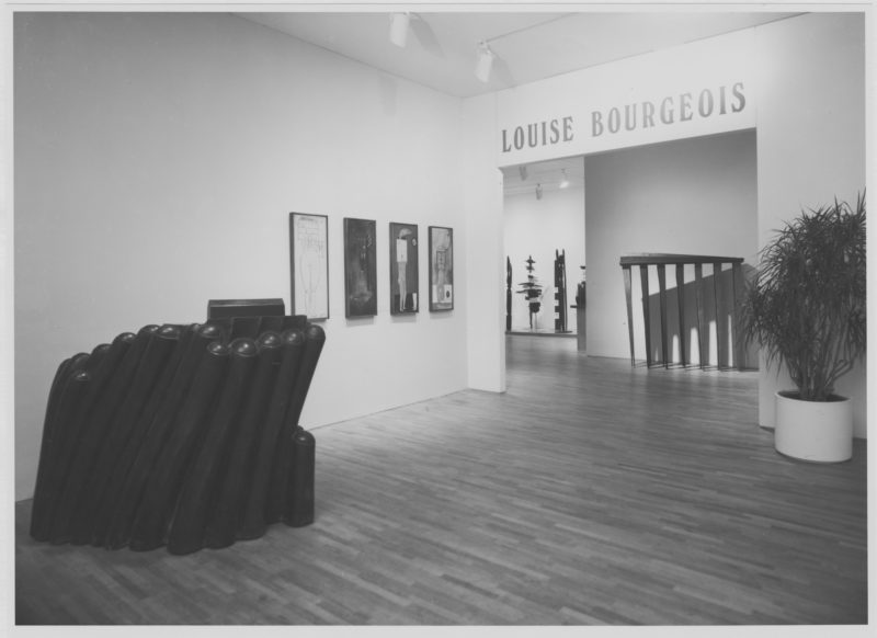 Installation view of the exhibition Louise Bourgeois, November 3, 1982 –February 8, 1983, The Museum of Modern Art, New York