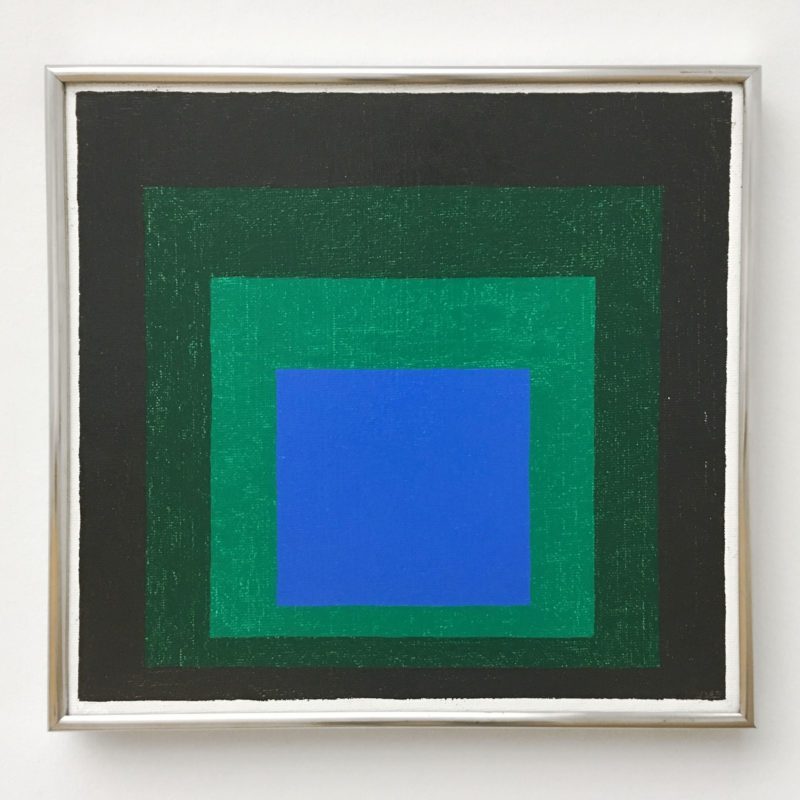 Josef Albers - Blue Call (Study for Homage to the Square), 1956, oil on hardboard, 45 x 45 cm