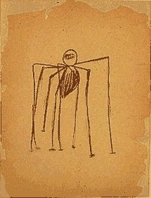 Louise Bourgeois - Untitled, 1947, ink and charcoal on tan paper
