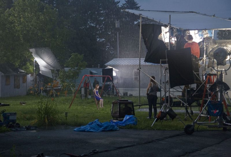 On set with the Crewdson crew