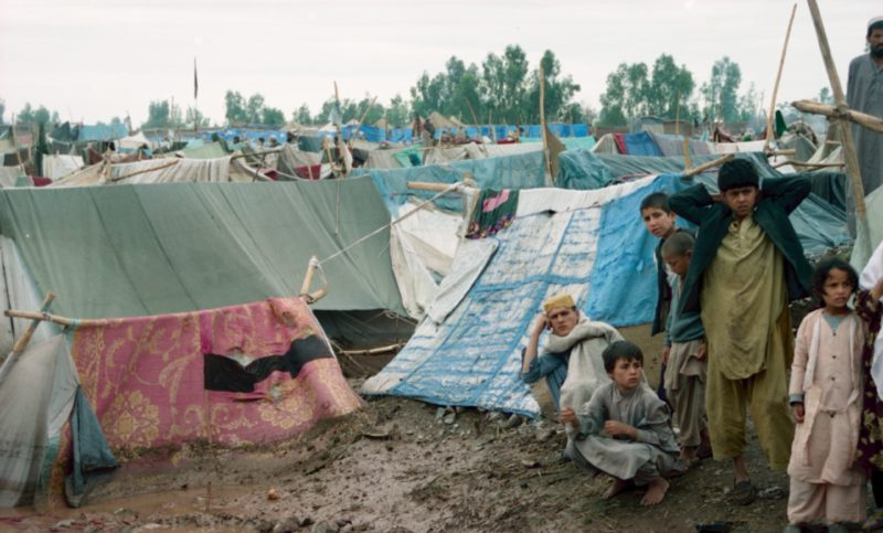 Afghan refugee living in very bad condition in the Jaluzu camp