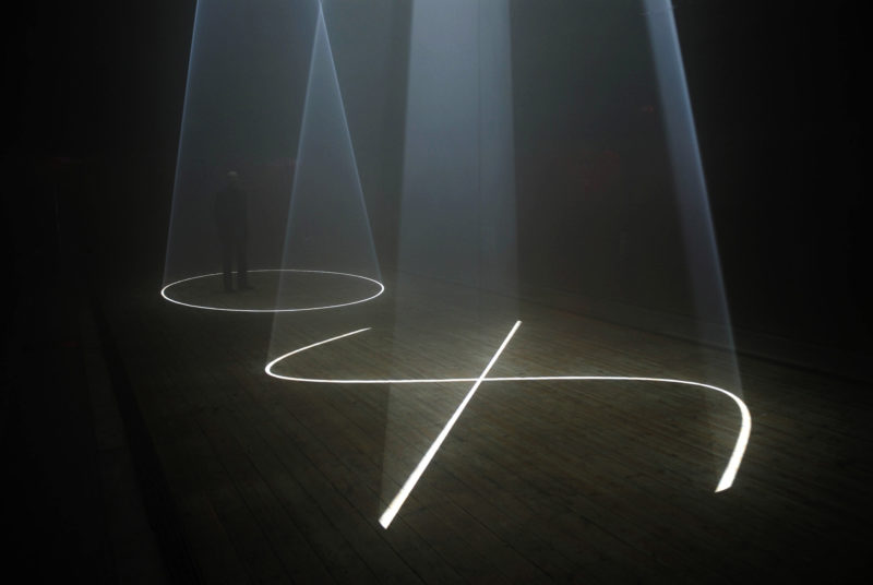 Anthony McCall - Between You and I, 2006 Installation view, Peer:The Round Chapel, London, 2006