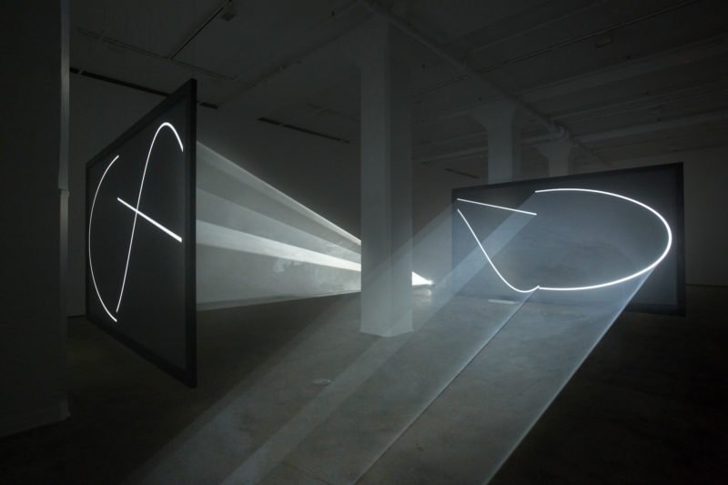 Anthony McCall - Face to Face, 2013, installation view, Sean Kelly Gallery, New York, 2013