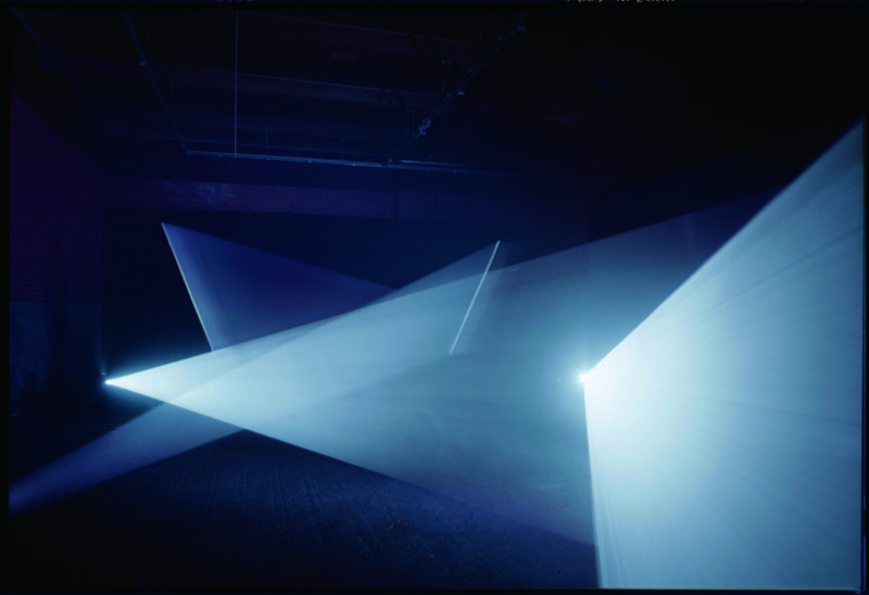 Anthony McCall - Long Film for Four Projectors, 1974, Eye Film Institute, Amsterdam, 2013, photo Hank Graber