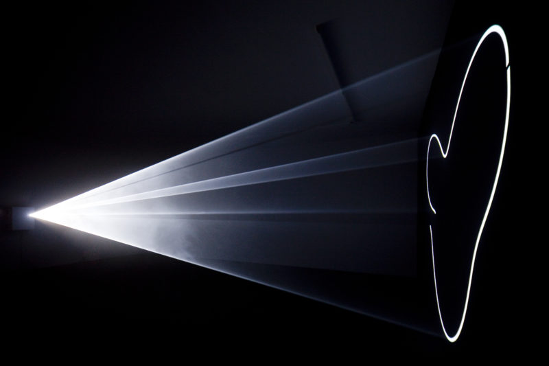 Anthony McCall - Meeting You Halfway, 2009, installation view of, Gallery Thomas Zander, Cologne, 2012