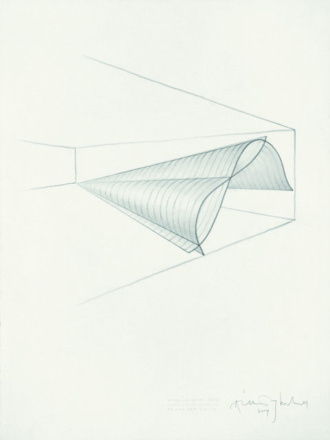 Anthony McCall - Sketch for Doubling Back, 2003