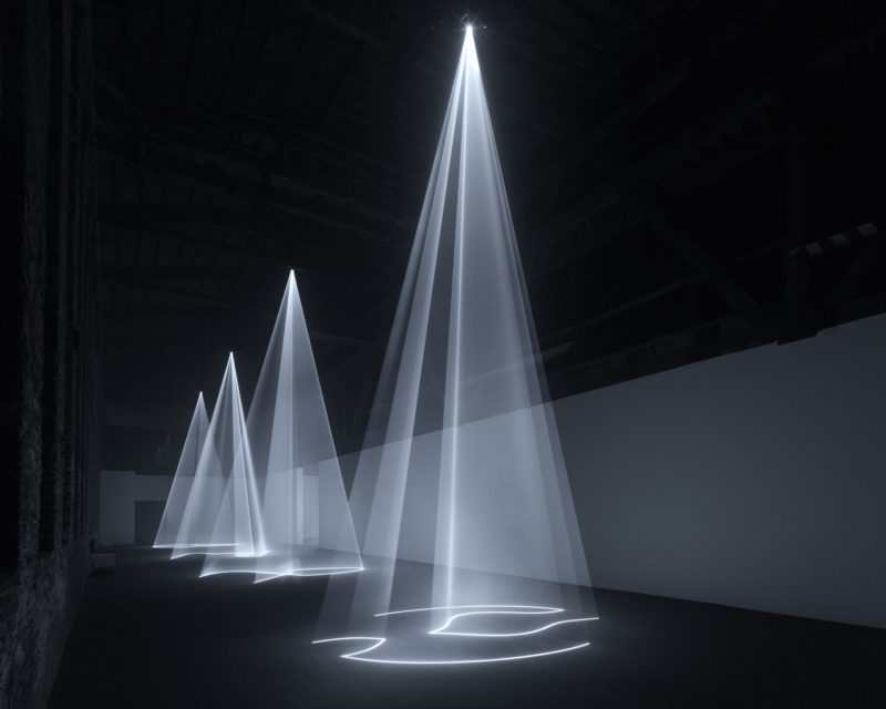 Anthony McCall - Solid Light Works, Installation view, Pioneer Works, Brooklyn, 2018