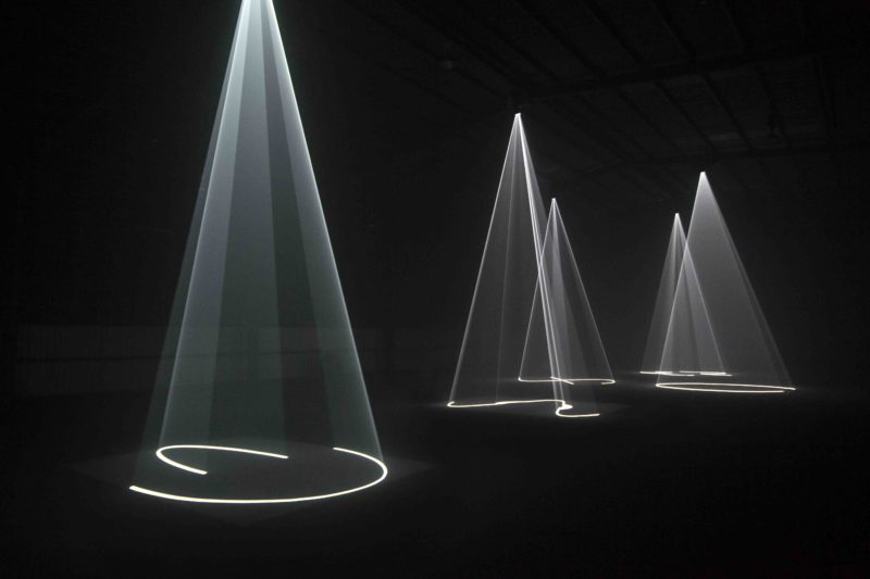 Anthony McCall - Solid Light installation, Installation view, Dark M*fo 2015, Macquarie Point, Museum of Old and New Art, Hobart, June 2015