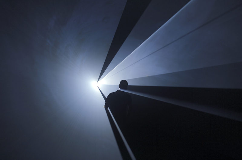 Anthony McCall - You and I Horizontal, 2005 Installation view, Institut d'Art Contemporain, Villeurbanne, France, 2006