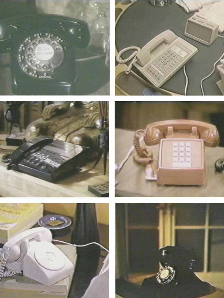 What is the meaning of Christian Marclay's Telephones?