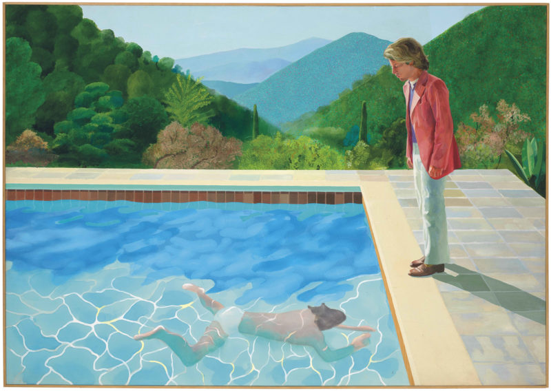 David Hockney - Portrait of an Artist (Pool with Two Figures), 1972, acrylic on canvas, 213.5 x 305 cm (84 x 120 in)