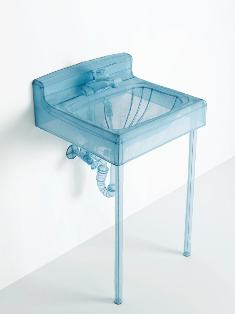 Do Ho Suh – Basin, Apartment A, 348 West 22nd Street, New York, NY 10011, USA, 2015, polyester fabric, stainless steel wire