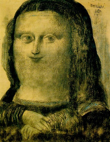 Fernando Botero – Mona Lisa, 1959, Charcoal and Pastel, 132 x 106.7 cm. (52 x 42 in.)