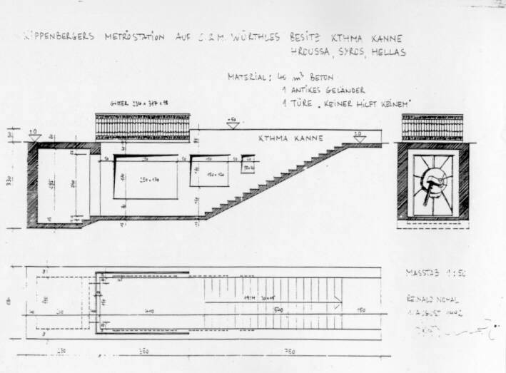 Martin Kippenberger - Plan of Metro-Net, Documenta X, Kassel, 1997