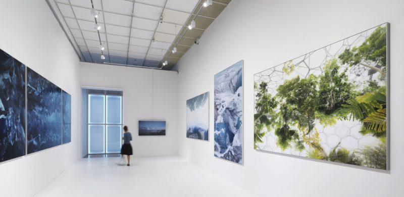 Michael Najjar – outer space (2011–ongoing), installation view, Moscow Biennial, Russia