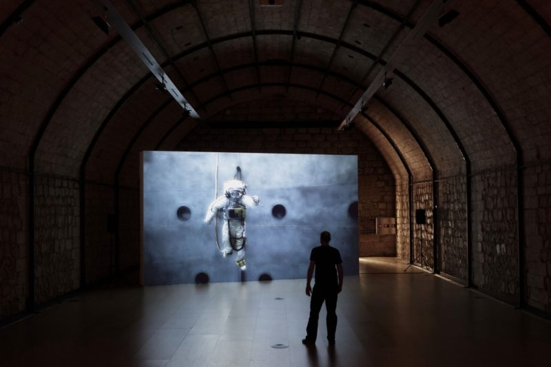 Michael Najjar – outer space (2011–ongoing), installation view, Museo Es Baluard, Palma, Spain