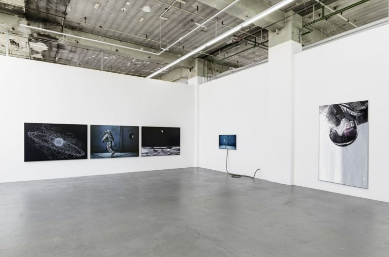 Michael Najjar – outer space (2011–ongoing), installation view, Wemhöner Collection, Berlin