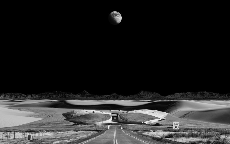 Michael Najjar – spaceport, 2012, Hybrid photography, archival pigment print, aludibond, diasec, custom-made aluminium frame