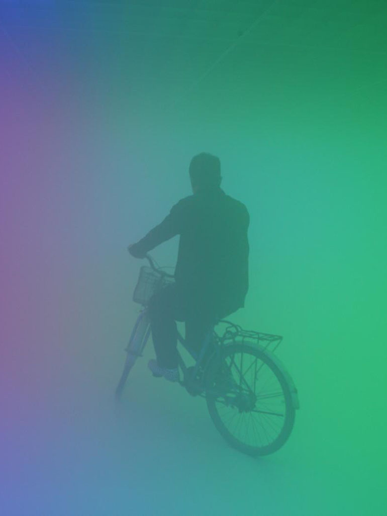 Olafur Eliasson's fascinating colorful haze installation in Beijing
