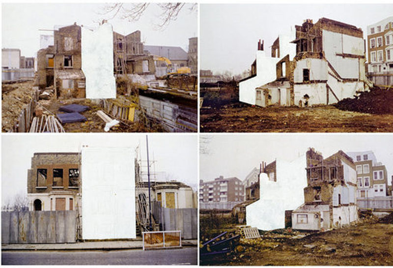Rachel Whiteread - House Study, grove Road, photograph in four parts, 1992