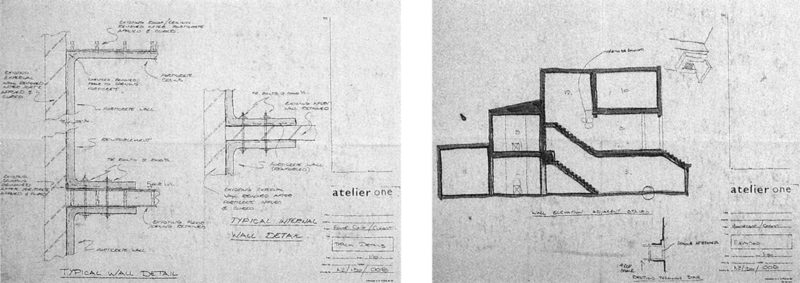 Rachel Whiteread - Two drawings for House, 1993