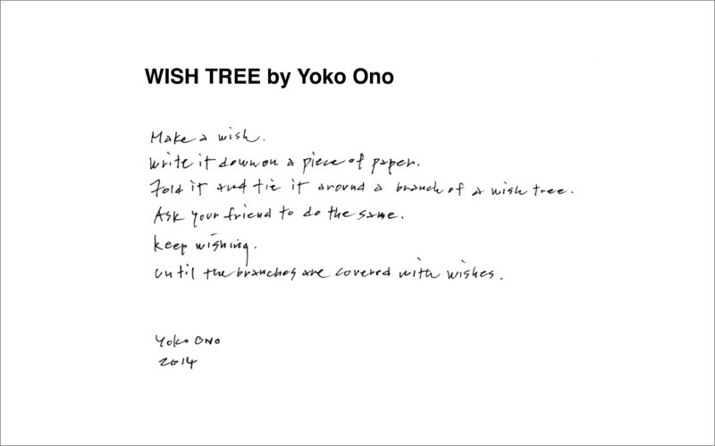 Yoko Ono - Wish Tree instructions