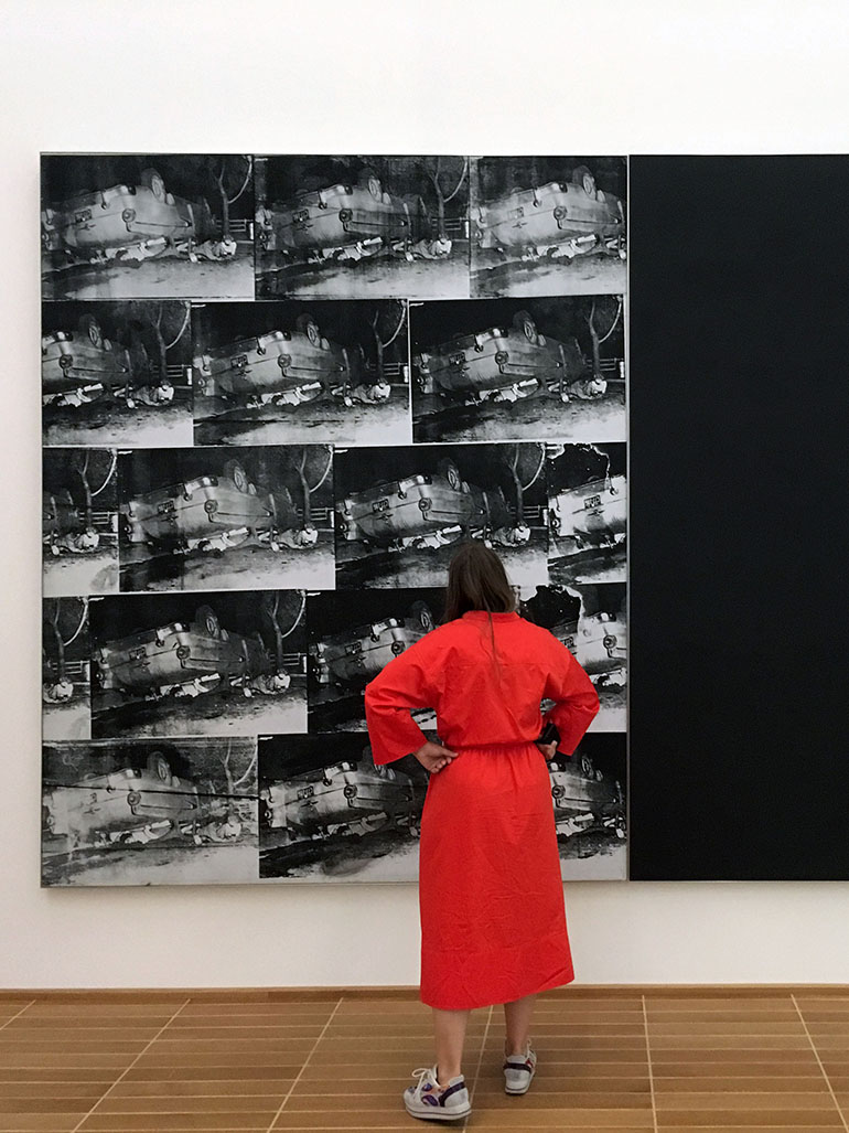 Andy Warhol's paintings of death & disaster