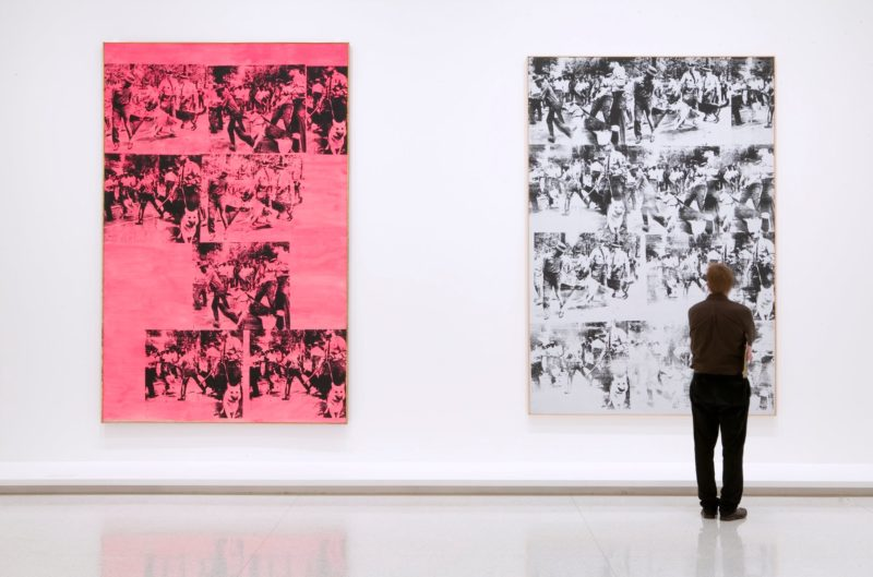 Andy Warhol - Race Riot, 1963; Pink Race Riot, 1963, installation view, Walker Art Center, 2005