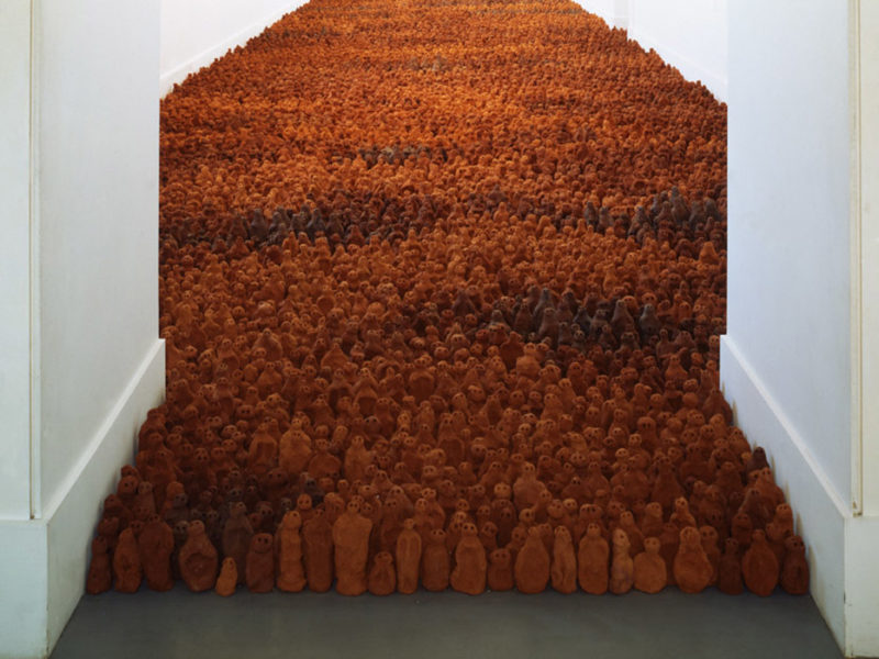 Antony Gormley – Field for the British Isles, 1993, terracotta, variable size- approx. 40 000 elements, each 8-26 cm tall, Irish Museum of Modern Art, Dublin, Ireland, 1994, Arts Council Collection, England
