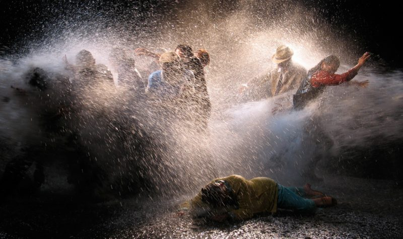 Bill Viola - The Raft, May 2004, video/sound installation