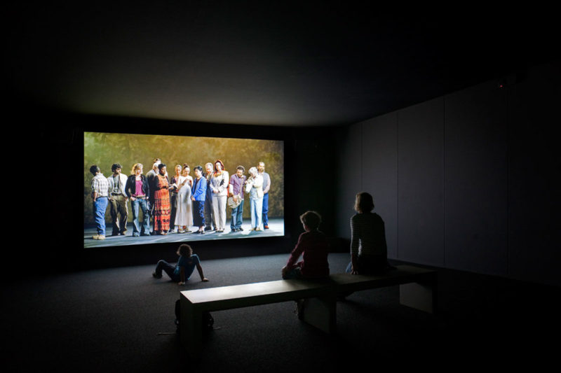 Bill Viola - The Raft, May 2004, video:sound installation, ACMI Australian Centre for the Moving Image