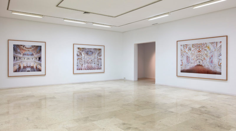 Candida Höfer - Installation view of The Space, the Detail, the Image, Galería Helga de Alvear, Madrid, Spain