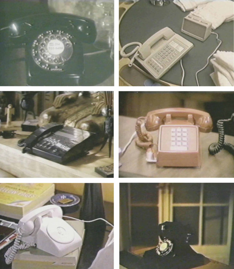 Christian Marclay - Telephones, 1995, video installation, single-channel video, black-and-white and color, with sound, 7-30 min., dimensions variable