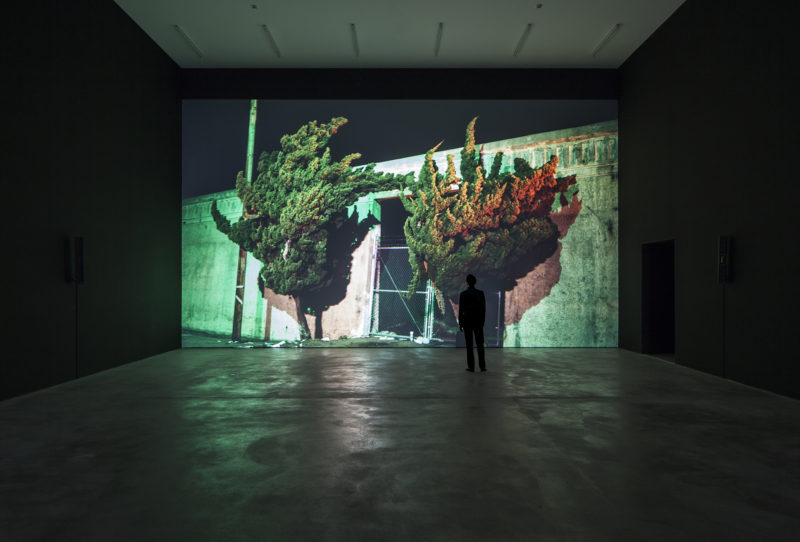 Cyprien Gaillard - Nightlife, 2015, 3D motion picture, 14min 56sec, installation view, Cyprien Gaillard - Where Nature Runs Riot, Sprüth Magers, Berlin, May 2 – July 18, 2015