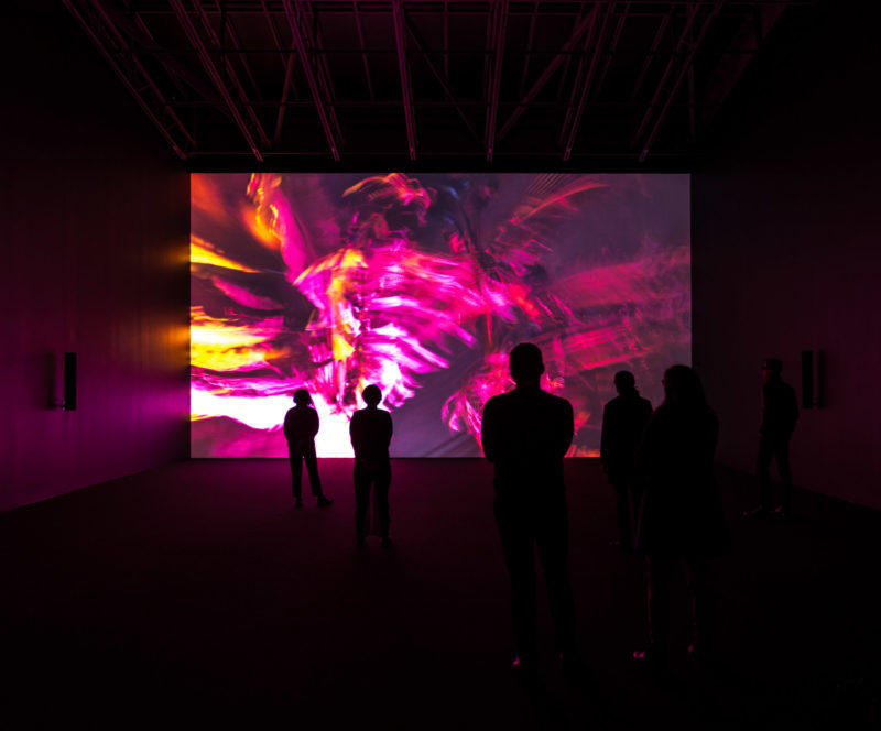 Cyprien Gaillard - Nightlife, 2015, 3D motion picture, 14min 56sec, installation view, Gladstone Gallery, New York, February 23 - April 14, 2018