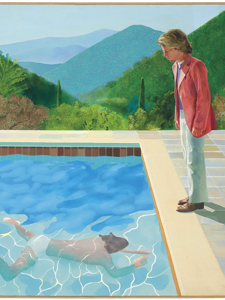 David Hockney's Pool with Two Figures broke an important record