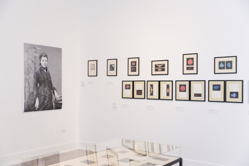 Installation view of Intention to Know- The Thought Forms of Annie Besant at the Rebuild Foundation's Stony Island Arts Bank, 2016, photo: Habib Bolat