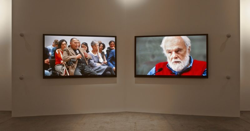 Isaac Julien - KAPITAL, two-screen high definition video installation, color, stereo, 31 min 16 sec, Victoria Miro, London, 2014